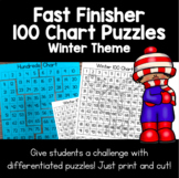 Winter 100 Chart Puzzles | Fast Finishers