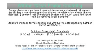 Winter 10/20 Frame Counting
