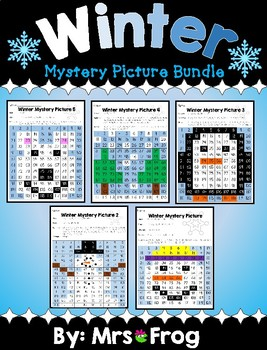 Winter 120 Chart Mystery Picture Bundle
