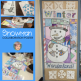 Winter Snowman Collaborative Poster for your Door - A Great Winter Activity!