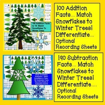 Winter {BUNDLE VALUE} Winter Activities For K/1 Kindergarten & First Grade