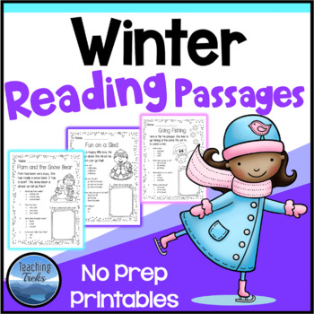 Winter Activities: Winter Reading Comprehension Passages and Questions