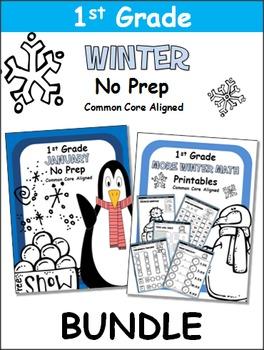 Winter 1st Grade No Prep Bundle