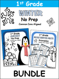 Winter 1st Grade No Prep Bundle