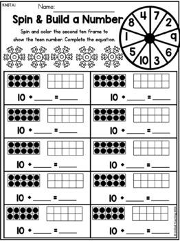 Winter 1st Grade No Prep Worksheets Bundle
