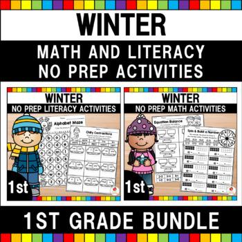 Winter Worksheets Bundle (1st Grade)