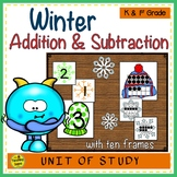 Winter 2 Addend Addition & Subtraction With Ten Frames