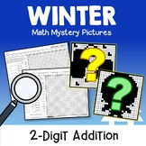Two Digit Color By Number Addition, Winter Math Worksheets For 1st Grade 2nd