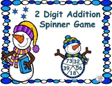 Winter 2 Digit Addition Spinner Game