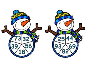 Winter 2 Digit Addition Spinner Game