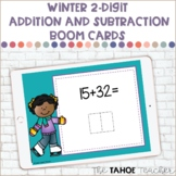 Winter 2-Digit Addition and Subtraction Boom Cards | Digit
