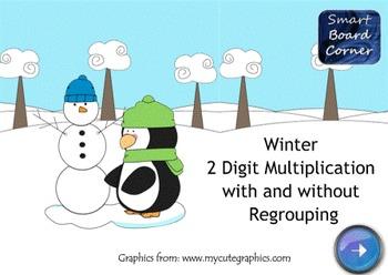 Winter 2 Digit Multiplication SMART Board Lesson