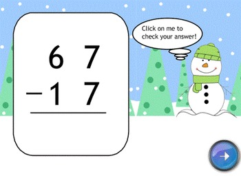 Winter 2 Digit Subtraction SMART Board Lesson