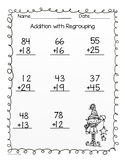 Winter 2 Digit and 3 Digit Addition with Regrouping