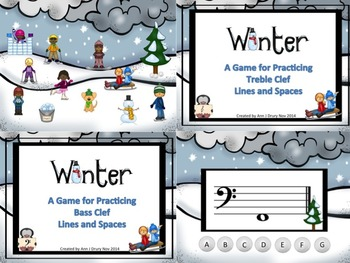 Winter - A Bundle of 2 Games to Practice Treble and Bass Clef Notation