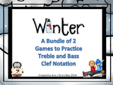 Winter - A Bundle of 2 Games to Practice Treble and Bass C