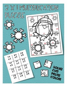 Winter 2 by 1 Multiplication Puzzle