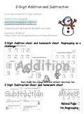 Winter 2-digit Addition and Subtraction
