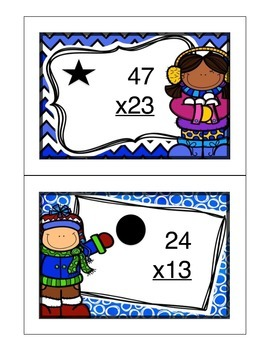 Winter 2 digit by 2 digit Multiplication Read the Room