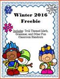 Winter 2016 Freebie (Trolls)