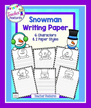 Snowman Winter Writing Paper