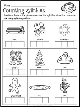 winter math and literacy worksheets by kindergarten smarts tpt. Black Bedroom Furniture Sets. Home Design Ideas
