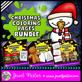 December Activities (Christmas Coloring Pages BUNDLE)