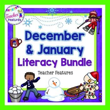Holidays Seasonal Literacy Bundle: December & January