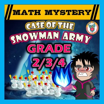 Winter Math Activity - Case of the snowman Army