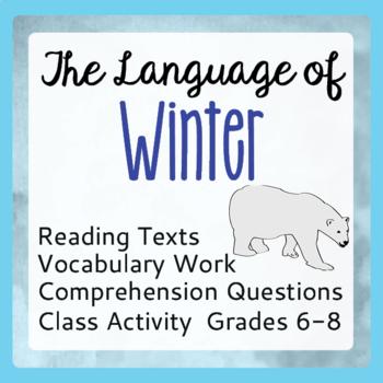Winter Informational Text Reading Passages Activities