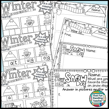 Winter Language Activities!
