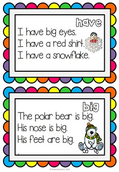 Winter Sight Words - Fluency Cards
