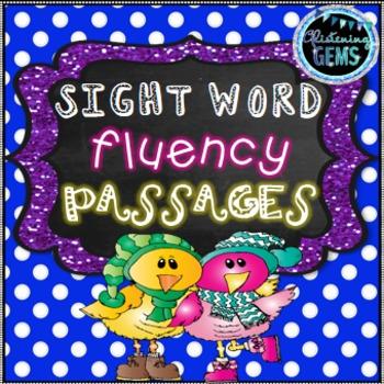 Winter Sight Words - Fluency Cards