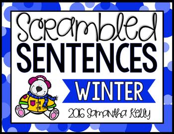 Winter Scrambled Sentence Station