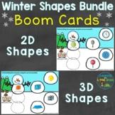 Winter 2D Shapes & 3D Shapes Boom Cards Bundle