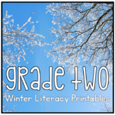Distance Learning Winter 2nd Grade Literacy Printable Packet NO PREP