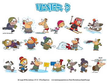 Winter 3 Cartoon Clipart