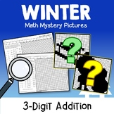Color By Addition Winter Activities For 2nd Grade 3rd Math Holiday Worksheets