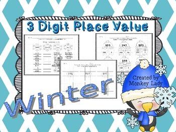 Winter 3 Digit Place Value Practice