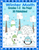 Winter Math Printables Morning Work  No Prep Grades 1-2 Co