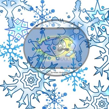 """Winter"" 34 pc. Clip-Art Set (BW and Color)"