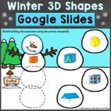 Winter 3D Shapes Google Classroom Google Slides Digital Di