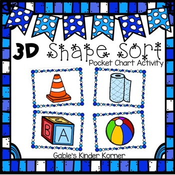 Winter 3D Shapes Sorting Activity