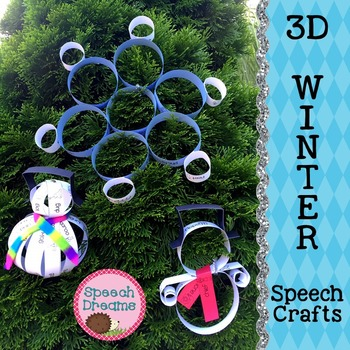 Winter 3D Speech Therapy Crafts {articulation language craftivities}