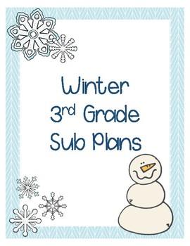 Winter 3rd Grade Sub Plans