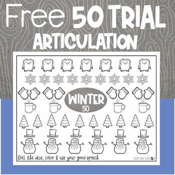 Winter 50 Trial Articulation Sheet | Cozy Winter | Speech and Language Therapy