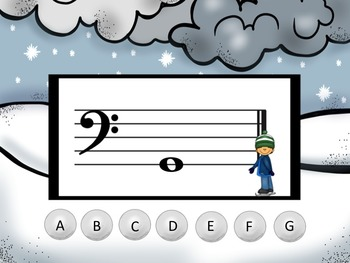 Winter - A Game to Practice Bass Clef Notation