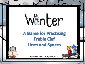 Winter - A Game to Practice Treble Clef Notation