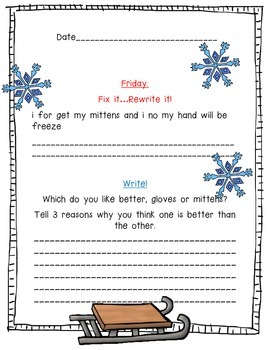 Winter - A Month of Daily Edits and Writing Prompts!