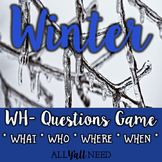 Winter - A WH- Questions Game